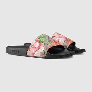 Gucci Bloom Slides Sandals Size 37